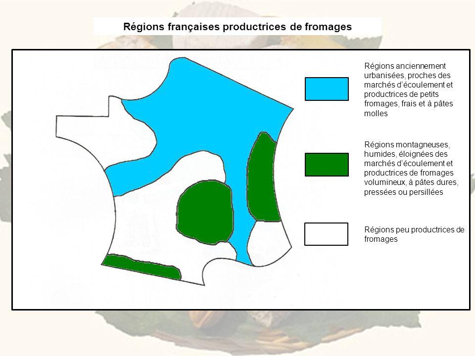 Régions françaises productrices de fromages