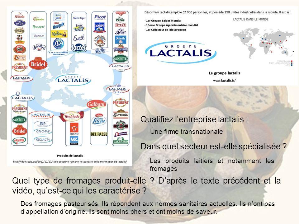 Qualifiez l'entreprise lactalis :