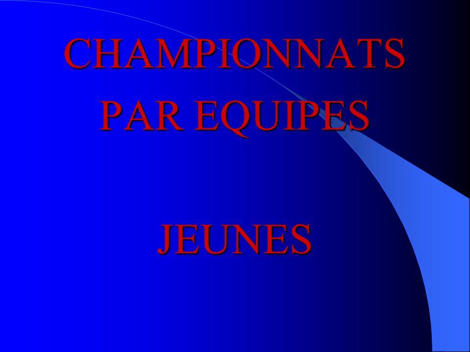 CHAMPIONNATS PAR EQUIPES JEUNES