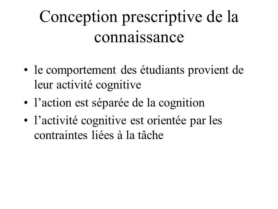 Conception prescriptive de la connaissance