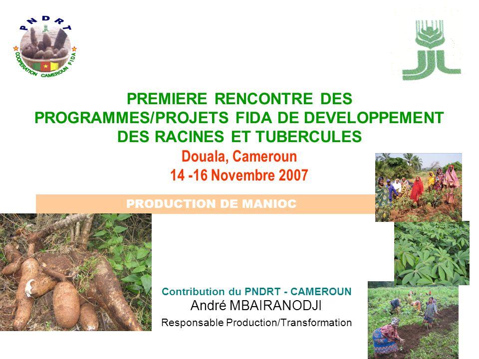 Contribution du PNDRT - CAMEROUN