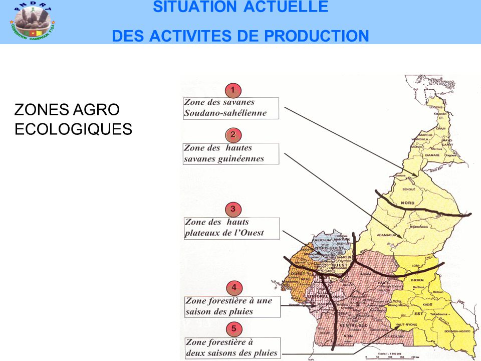 SITUATION ACTUELLE DES ACTIVITES DE PRODUCTION