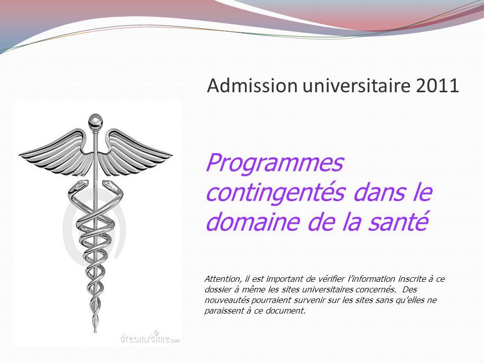 Admission universitaire 2011