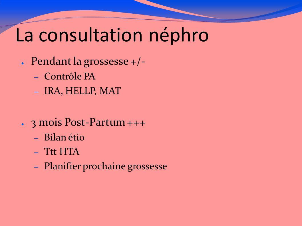 La consultation néphro
