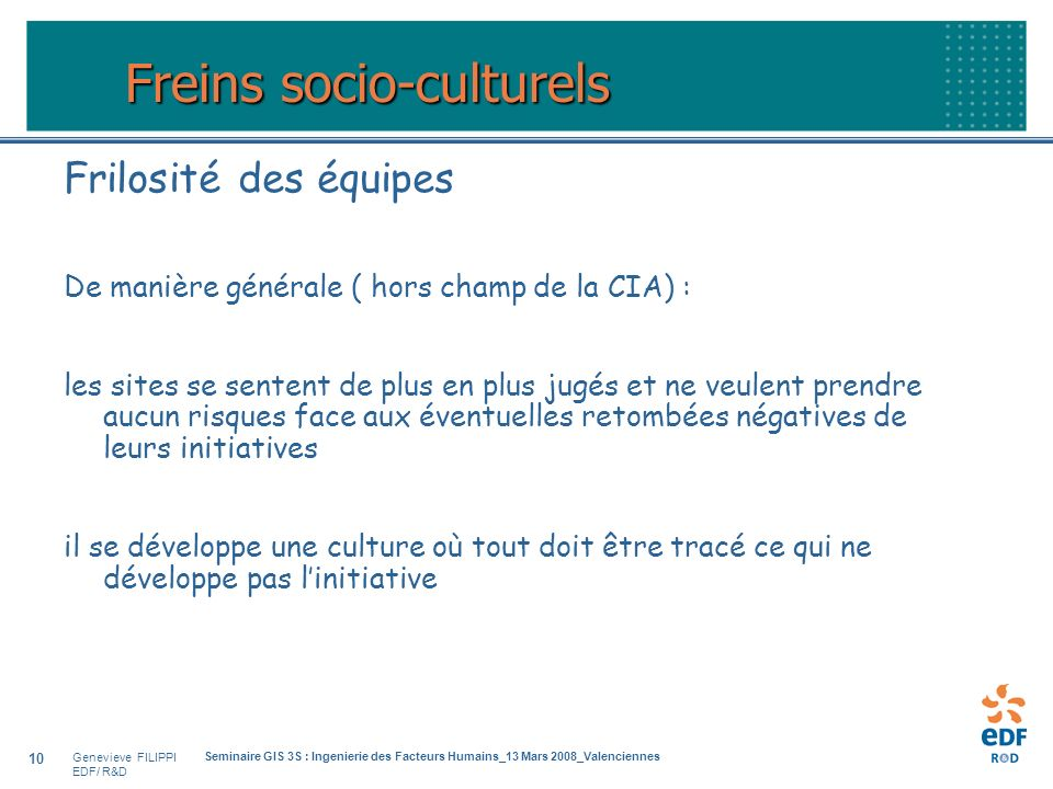 Freins socio-culturels