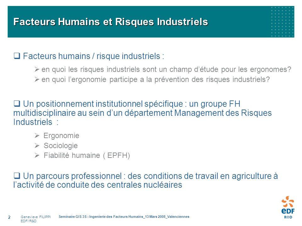 Facteurs Humains et Risques Industriels