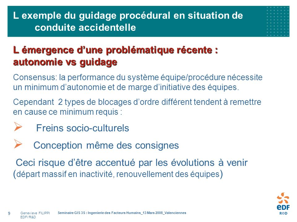L exemple du guidage procédural en situation de conduite accidentelle