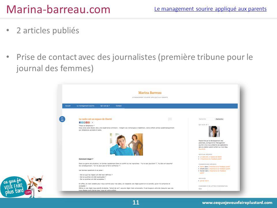 Marina-barreau.com 2 articles publiés
