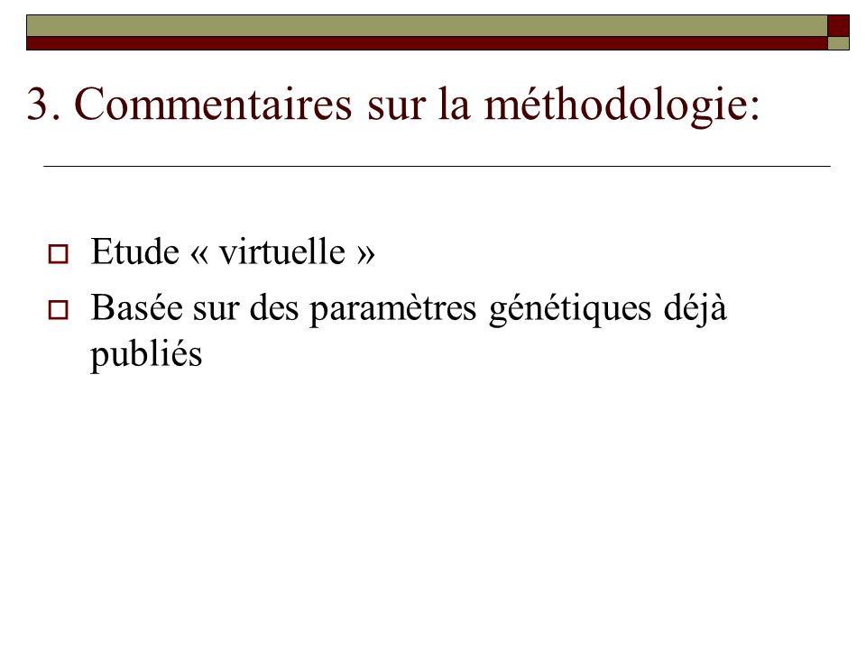 3. Commentaires sur la méthodologie: