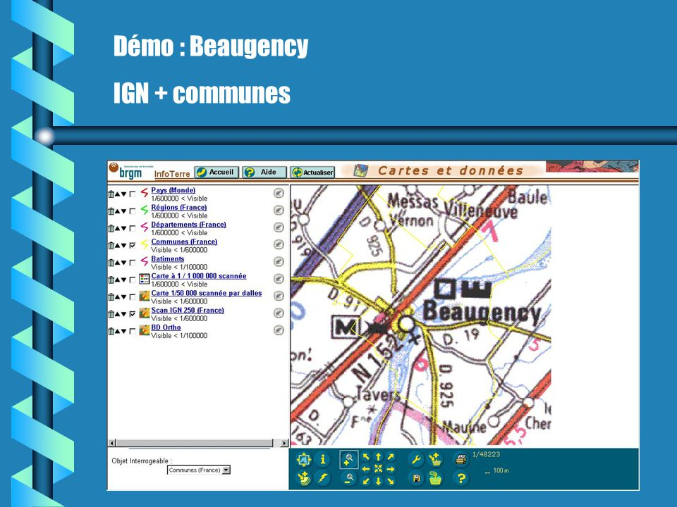 Démo : Beaugency IGN + communes