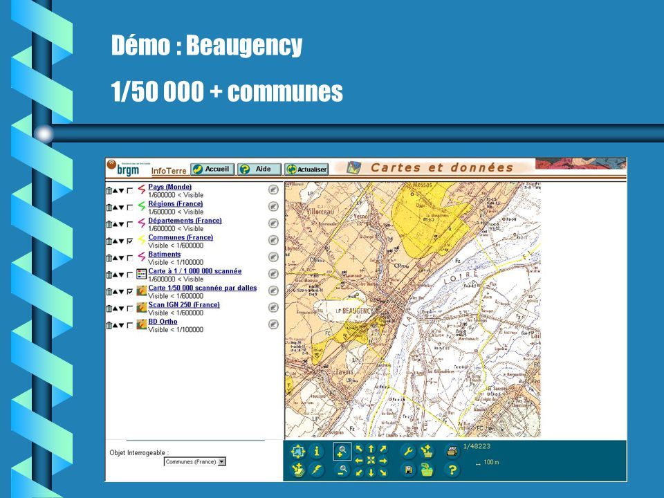 Démo : Beaugency 1/50 000 + communes