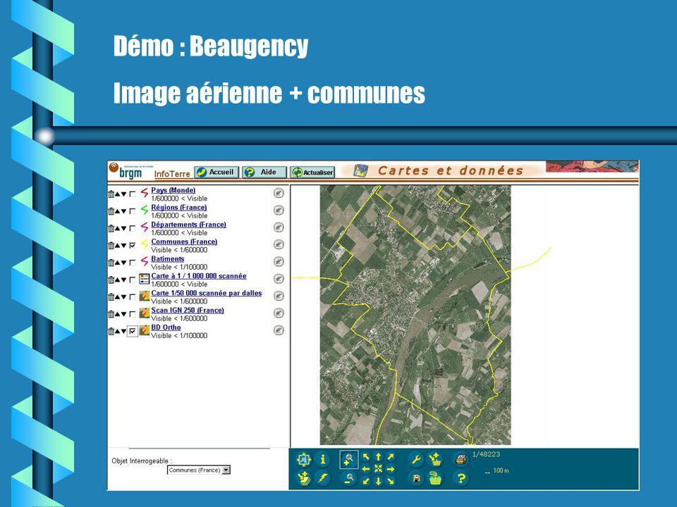 Démo : Beaugency Image aérienne + communes