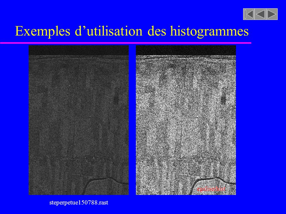 Exemples d'utilisation des histogrammes