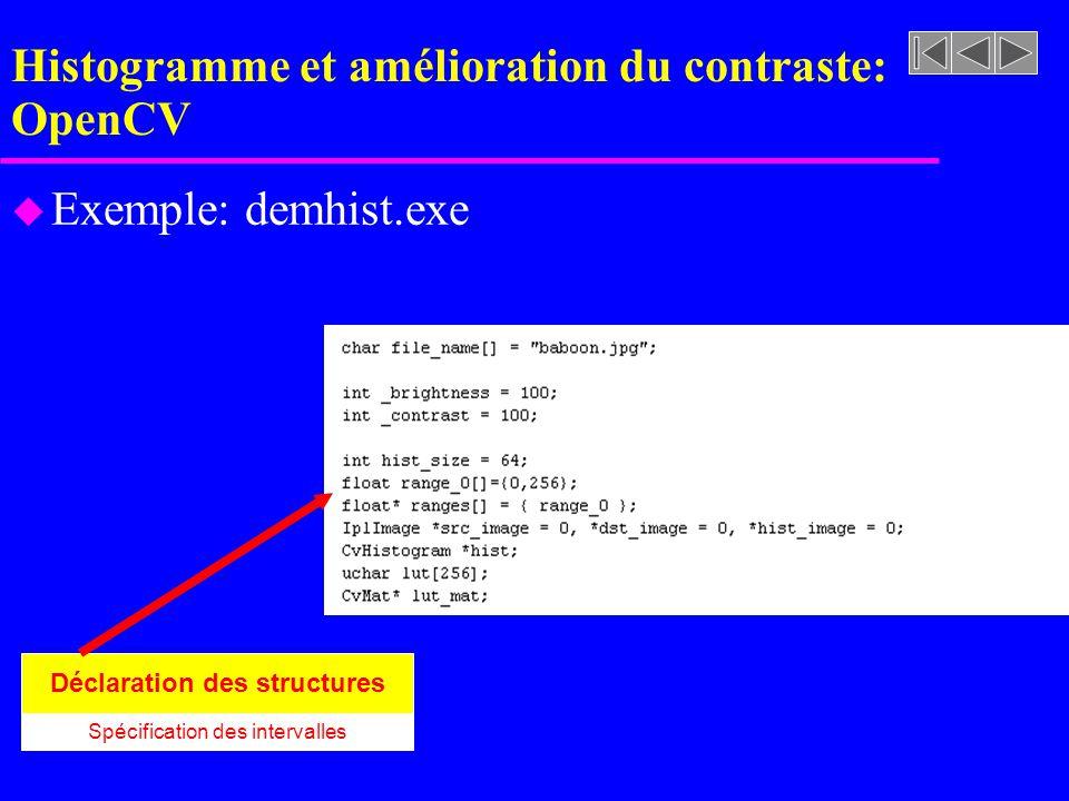 Histogramme et amélioration du contraste: OpenCV