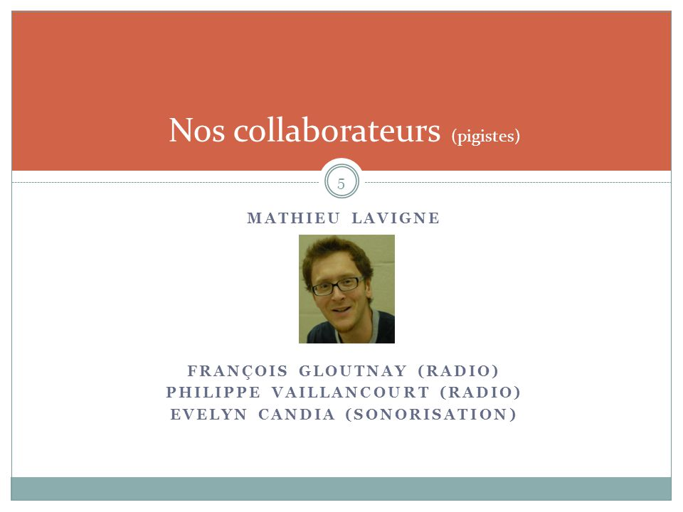 Nos collaborateurs (pigistes)