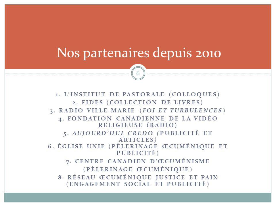 Nos partenaires depuis 2010