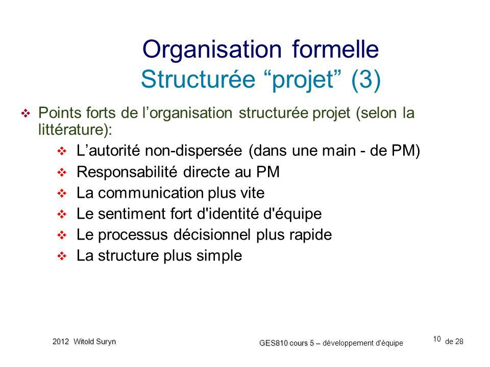 Organisation formelle Structurée projet (3)