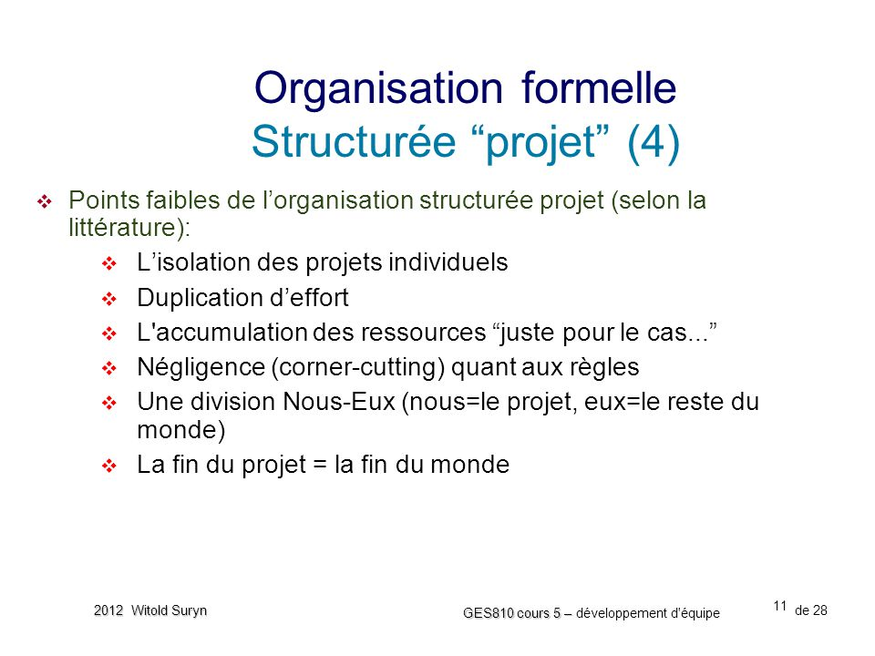 Organisation formelle Structurée projet (4)