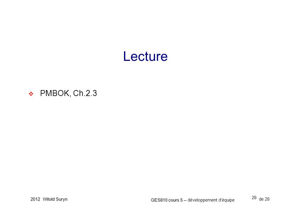 Lecture PMBOK, Ch.2.3 MOV: measurable organizational value