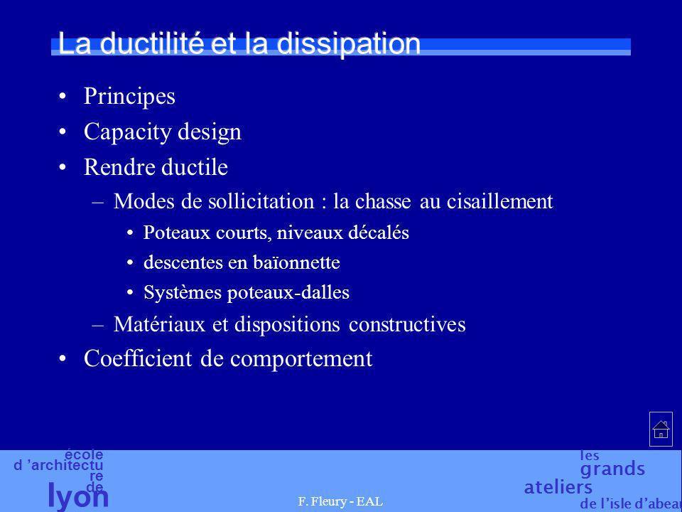 La ductilité et la dissipation