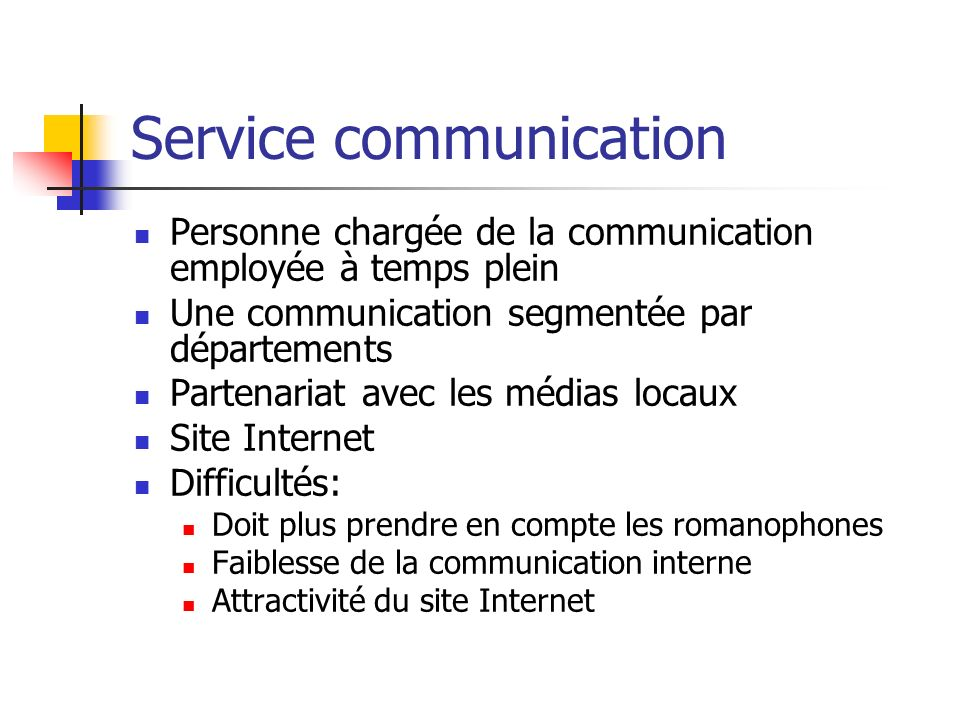 Service communication