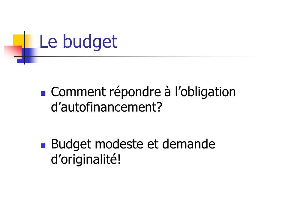 Le budget Comment répondre à l'obligation d'autofinancement