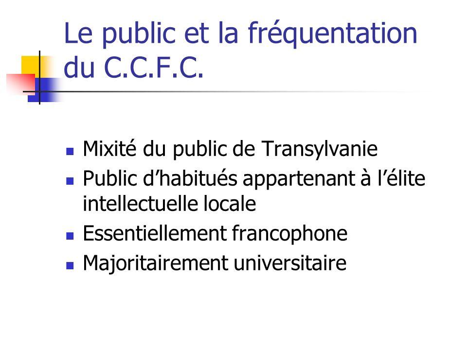 Le public et la fréquentation du C.C.F.C.