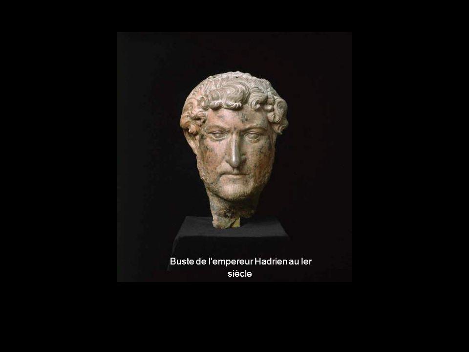 Buste de l'empereur Hadrien au Ier siècle