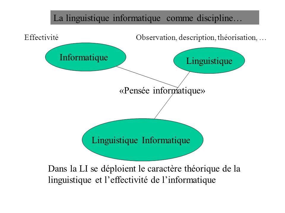 Linguistique Informatique