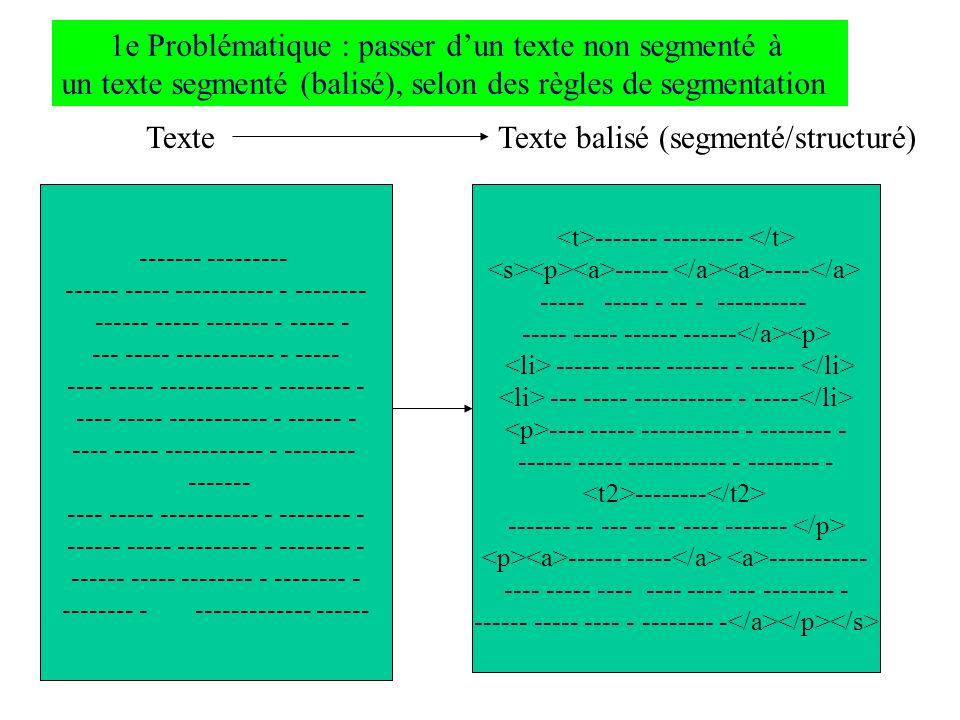 1e Problématique : passer d'un texte non segmenté à