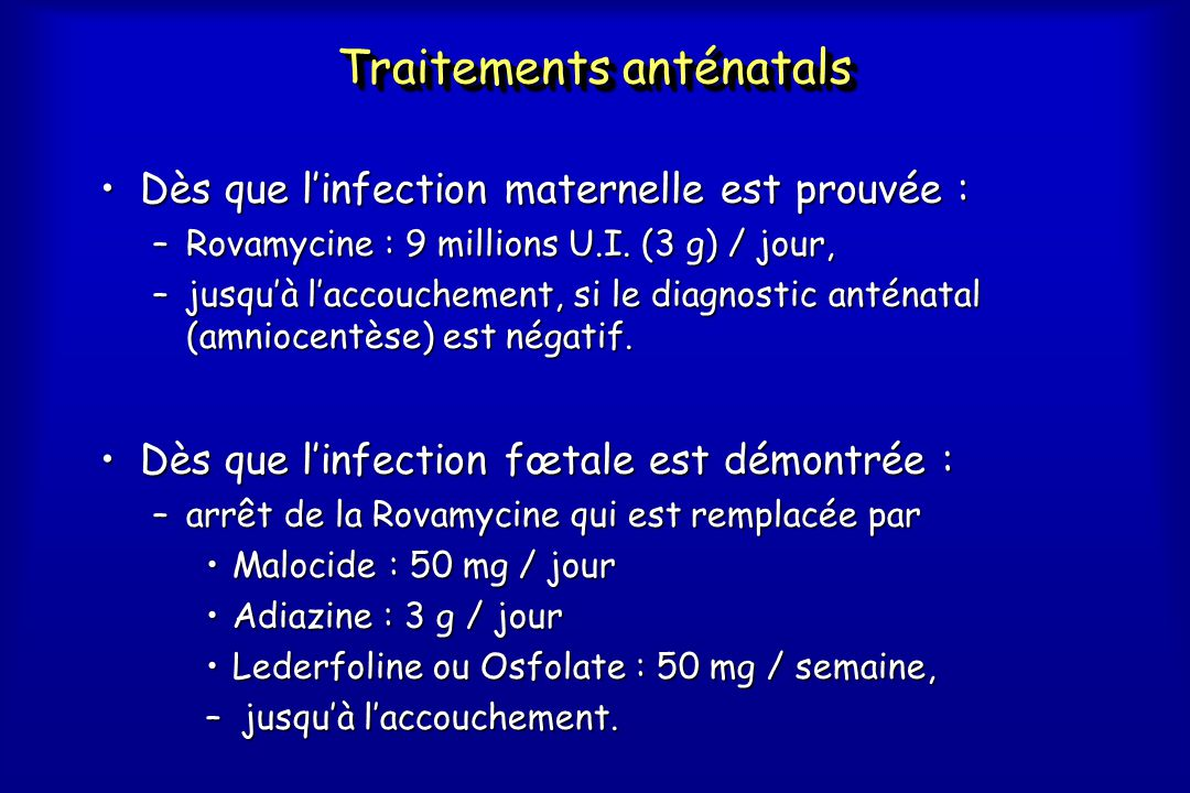 Traitements anténatals