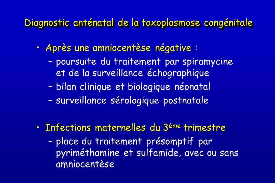 Diagnostic anténatal de la toxoplasmose congénitale