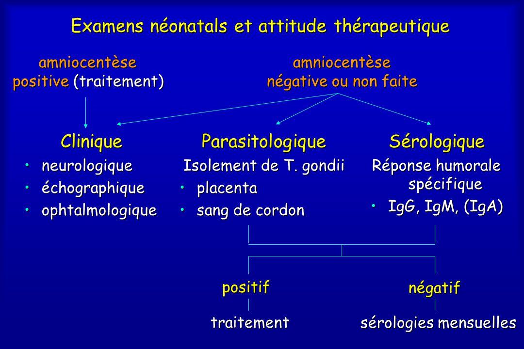 Examens néonatals et attitude thérapeutique