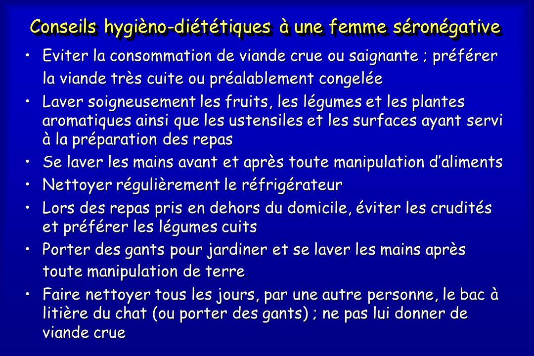 Conseils hygièno-diététiques à une femme séronégative