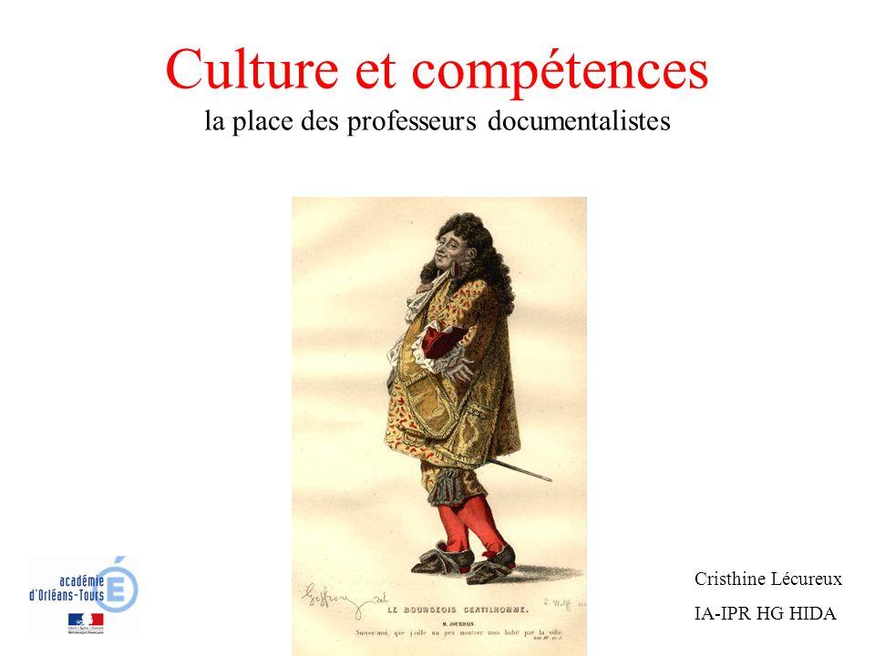 Culture et compétences la place des professeurs documentalistes