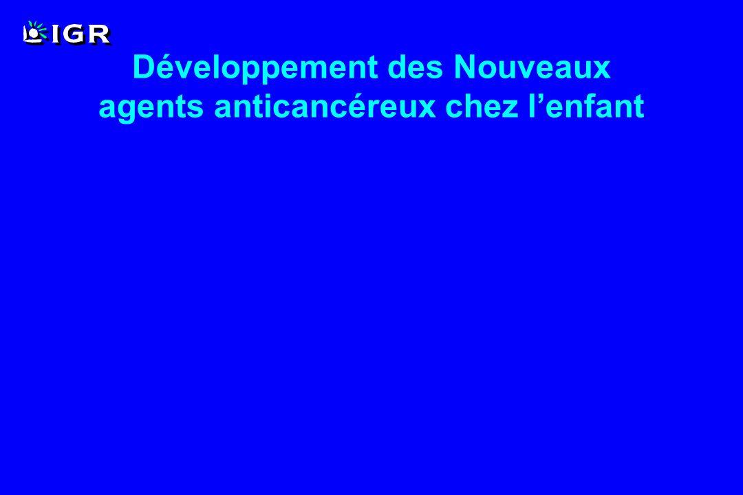 Développement des Nouveaux agents anticancéreux chez l'enfant
