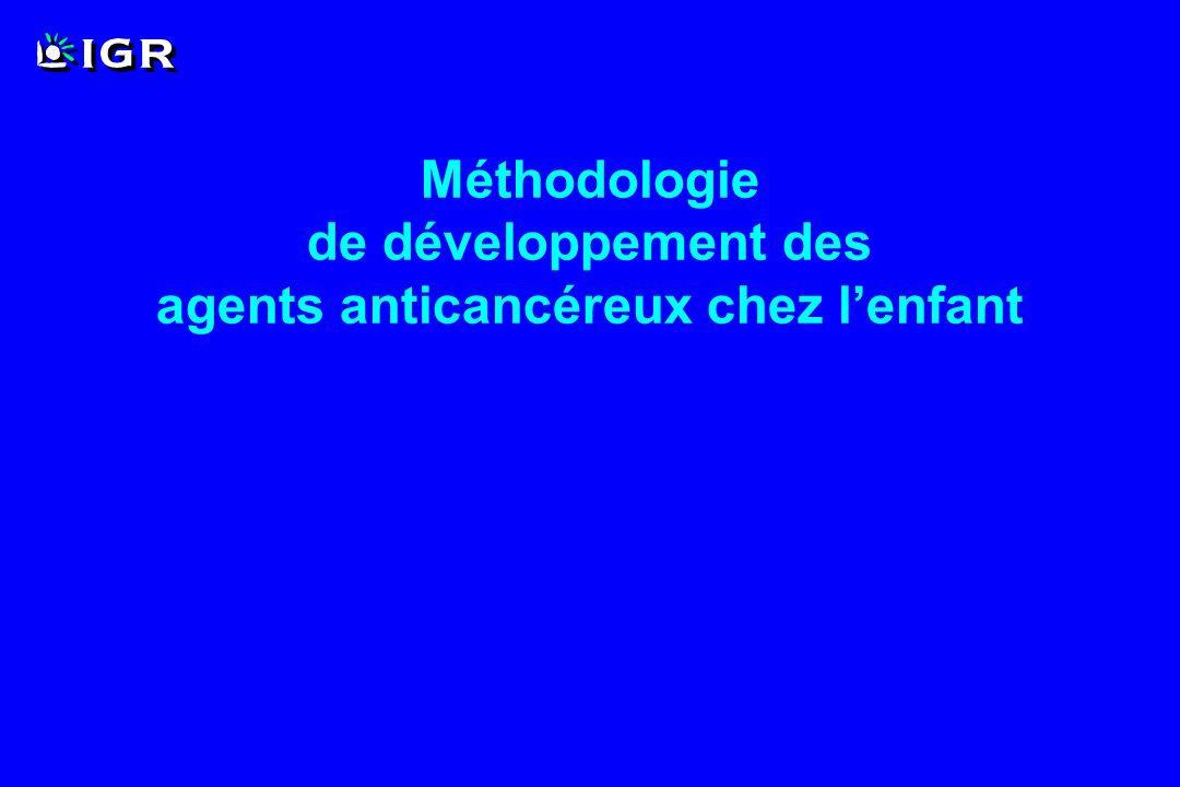 Méthodologie de développement des agents anticancéreux chez l'enfant
