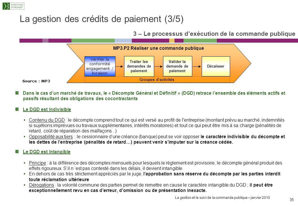 La gestion des crédits de paiement (3/5)