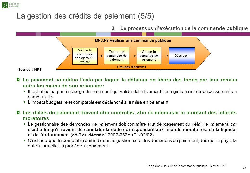 La gestion des crédits de paiement (5/5)