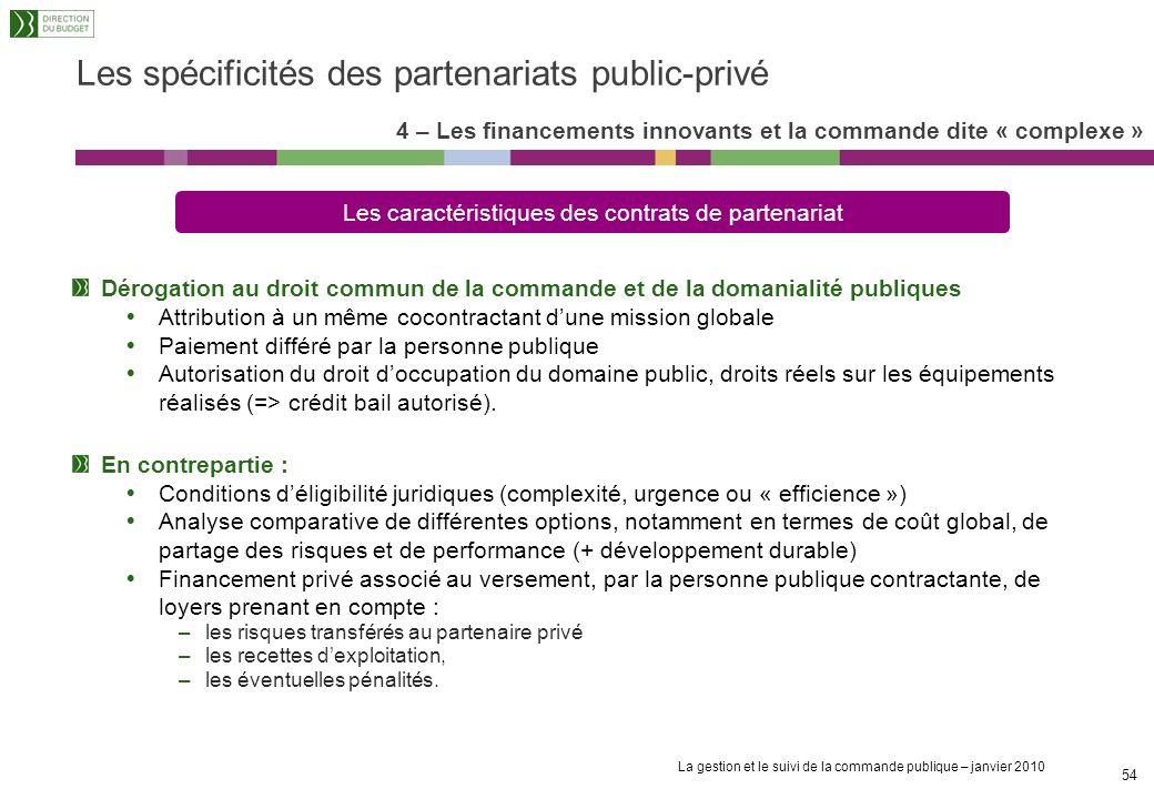 Les spécificités des partenariats public-privé