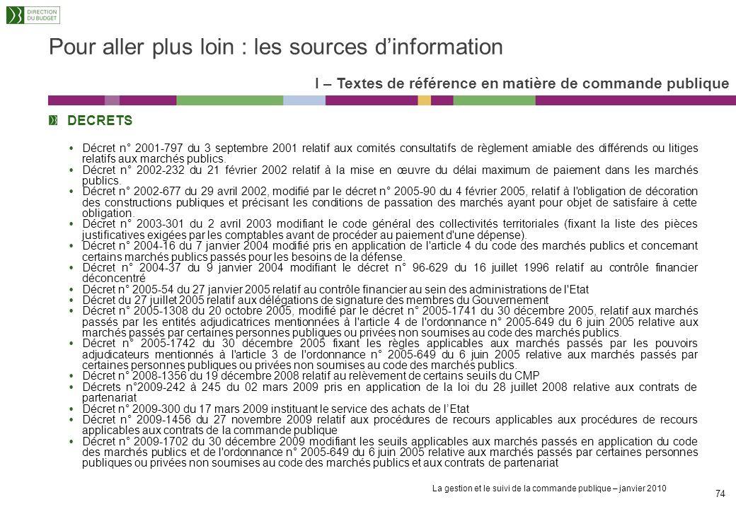 Pour aller plus loin : les sources d'information