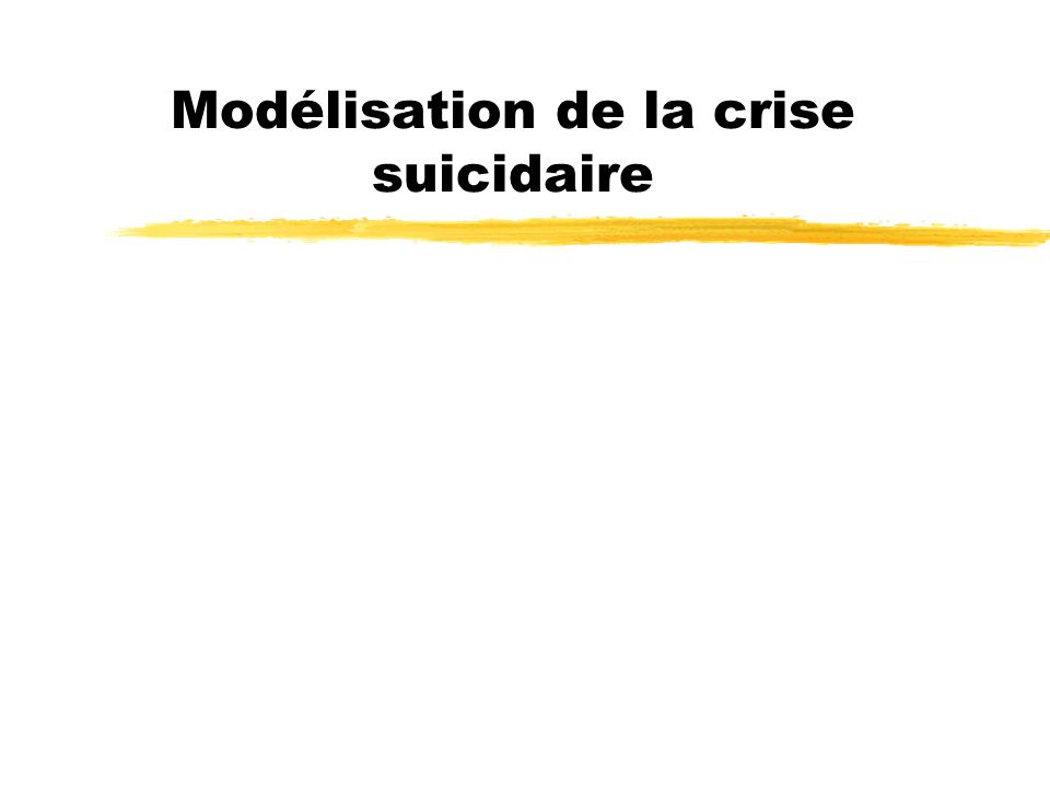 Modélisation de la crise suicidaire