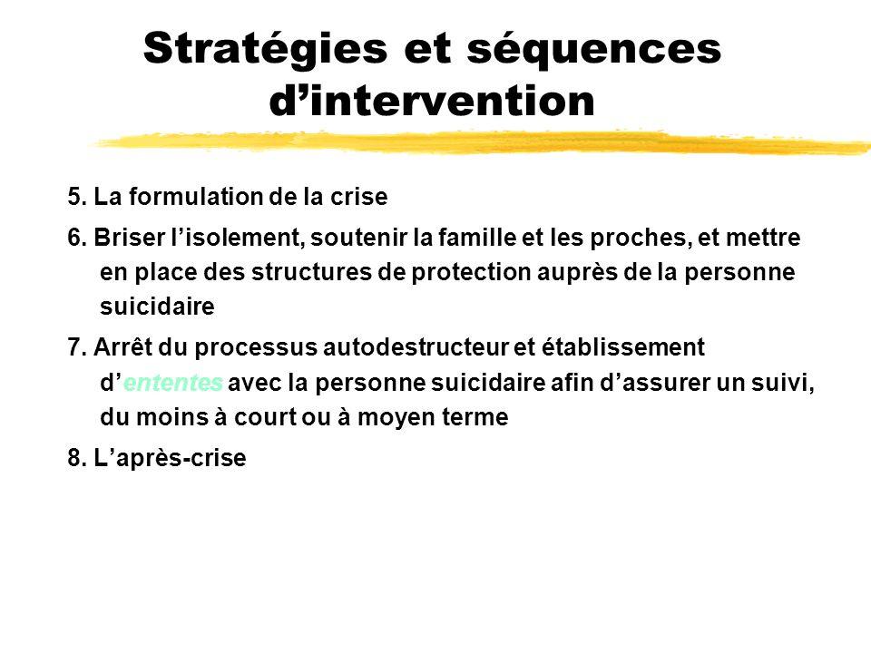 Stratégies et séquences d'intervention