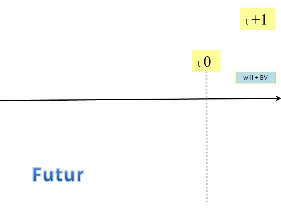 t +1 t 0 will + BV Futur
