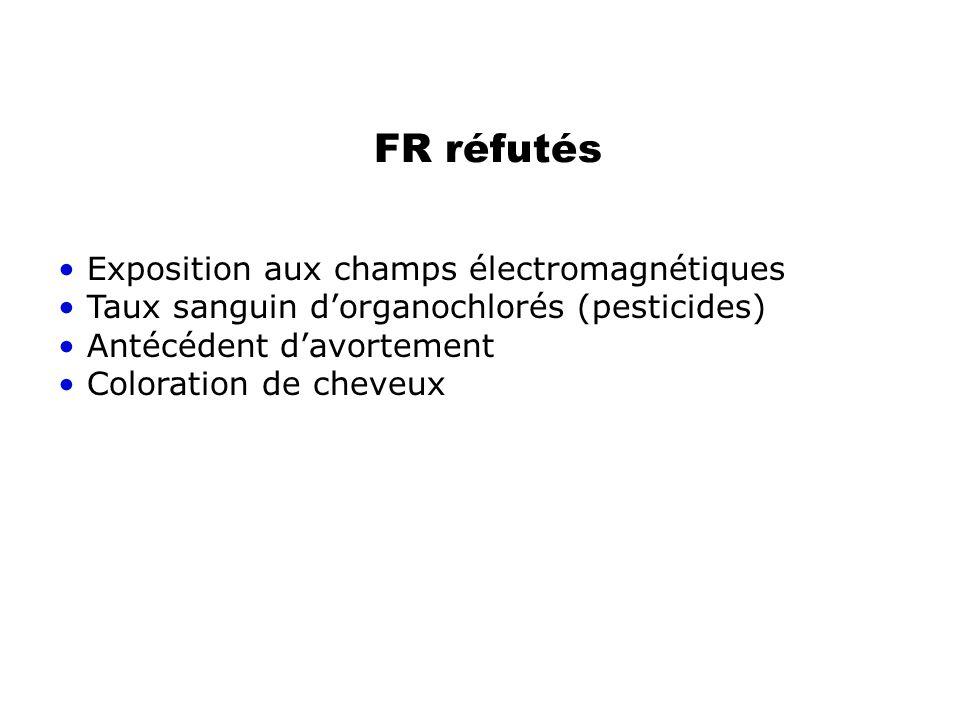 FR réfutés Exposition aux champs électromagnétiques