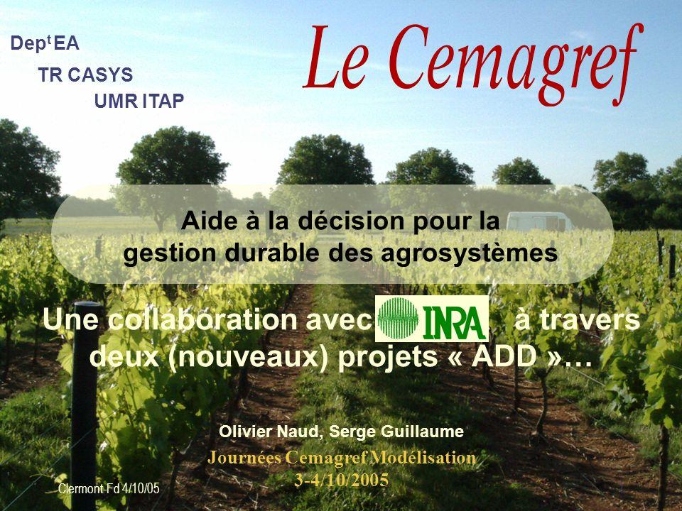 Aide à la décision pour la gestion durable des agrosystèmes