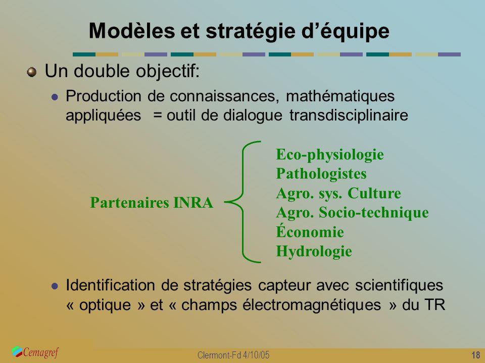 Modèles et stratégie d'équipe
