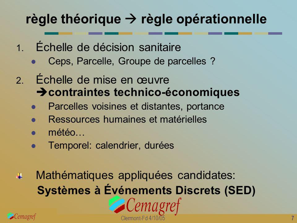 règle théorique  règle opérationnelle
