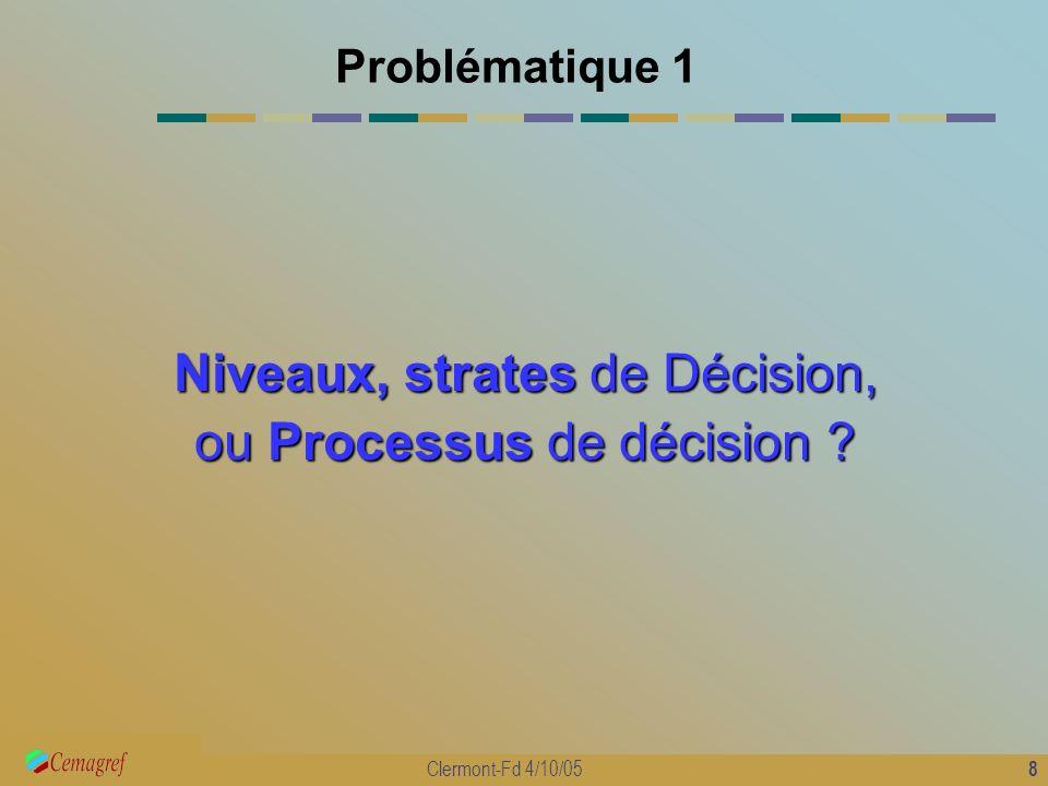 Niveaux, strates de Décision, ou Processus de décision