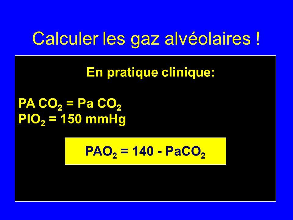 Calculer les gaz alvéolaires !